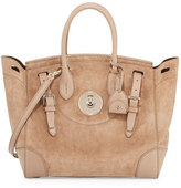 Ralph Lauren Soft Ricky 33 Suede Satchel Bag, Taupe