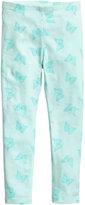 H&M Jersey Leggings - Mint green/butterflies - Kids