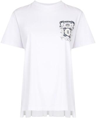 EENK shirred-back logo T-shirt