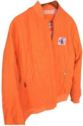 Calvin Klein Orange Synthetic Leather jackets