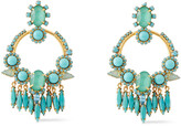 Thumbnail for your product : Elizabeth Cole 24-karat Gold-plated, Swarovski Crystal And Stone Earrings