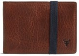 Trask Men's Leather Money Clip Wallet - Brown