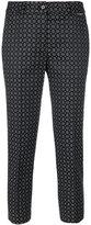Twin-Set jacquard trousers - women - Cotton/Polyester/Spandex/Elastane/Viscose - 44