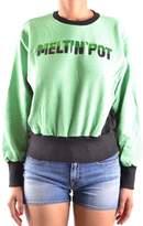 Meltin Pot Women's Green Cotton Sweatshirt.