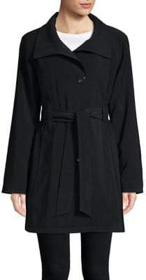 Petite Nepage Belted Rain Coat