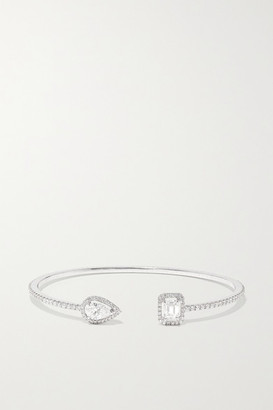 Messika My Twin Skinny Toi & Moi 18-karat White Gold Diamond Cuff - one size