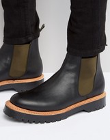 Asos Chelsea Boots In Black Leather Made in England