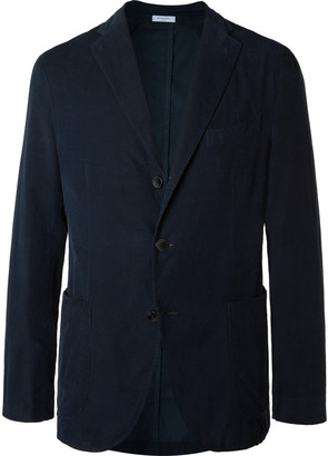 Boglioli Navy Slim-Fit Unstructured Cotton-Corduroy Suit Jacket