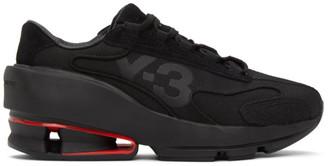 Y-3 Black Sukui II Panelled Mesh Sneakers
