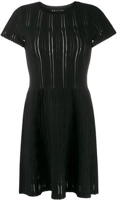 Pinko Ribbed-Knit Mini Dress
