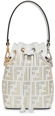 Fendi Mon Tresor Micro-Studded Leather Bucket Bag