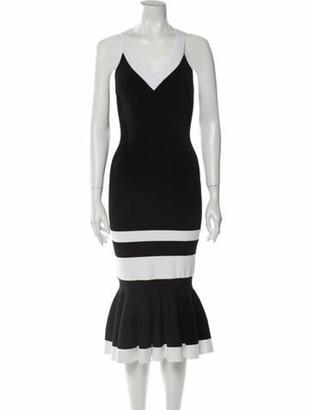 Jonathan Simkhai Colorblock Pattern Midi Length Dress w/ Tags Black