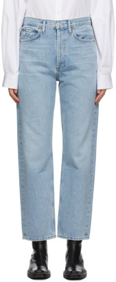 AGOLDE Blue 90s Mid-Rise Loose Fit Jeans
