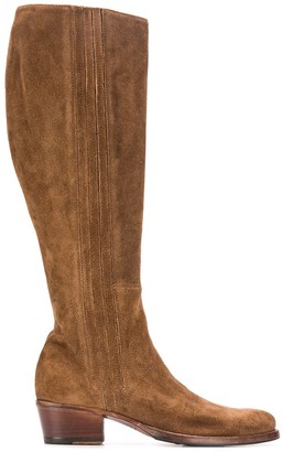 Alberto Fasciani Yara textured knee-length boots
