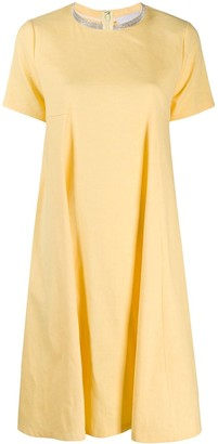 Fabiana Filippi Chain Trim Flared Dress