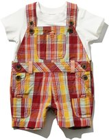 M&Co Checked dungaree and t-shirt set