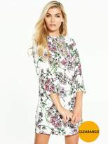Very Printed Lace Insert Dress