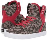 Supra Kids Skytop (Little Kid/Big Kid) (Camo/White) Boys Shoes