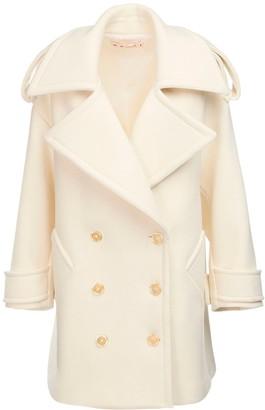 Marni Over Wool Blend Double Breast Pea Coat