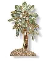 Banana Republic Jeweled Palm Leaf Brooch