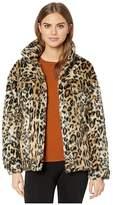 Apparis Lauren Faux Fur Leopard Trucker Jacket (Small Leopard) Women's Jacket