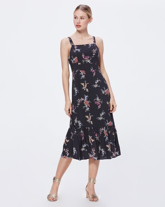 Paige TOLUCAH DRESS-BLACK- BALI ORCHID