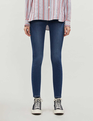 7 For All Mankind Aubrey Slim Illusion skinny high-rise jeans