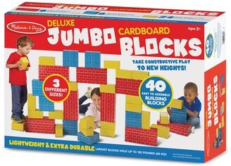 Melissa & Doug Deluxe Jumbo Cardboard Blocks 40-Piece Set