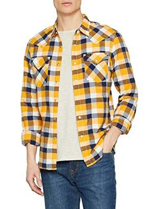 Lee Men's Western Shirt Casual, White (Radiant Yellow Lg), XX-Large