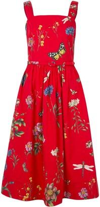 Oscar de la Renta Botanical Garden midi dress