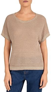 Gerard Darel Emanno Short Sleeve Linen-Blend Sweater