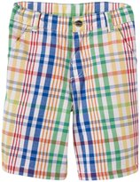 E-Land Kids Plaid Shorts (Toddler/Kid) - Multicolor-2T