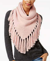 Steve Madden Fringe Triangle Snood Scarf