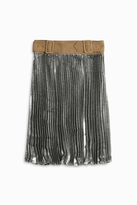 3.1 Phillip Lim Metallic Pleated Skirt