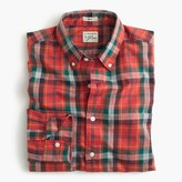 J.Crew Slim Secret Wash shirt in heather poplin red plaid