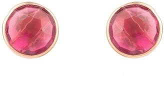 Latelita Medium Circle Stud Earrings Rosegold Pink Tourmaline