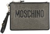 Moschino studded clutch