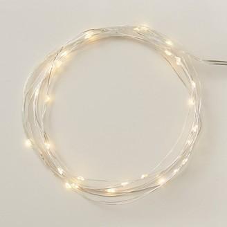 Indigo Led Micro Fairy Lights Silver String, 10 Ft