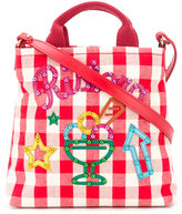 Dolce & Gabbana gingham shoulder bag - kids - Cotton/Calf Leather - One Size