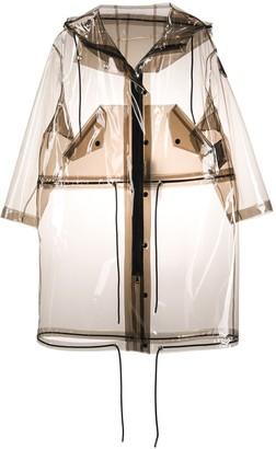 Moncler Drawstring Details Midi Raincoat