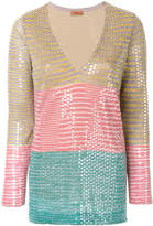 Missoni sequined striped blouse