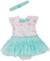 Little Me 2-Pc. Floral-Print Tutu Popover Dress & Headband Set, Baby Girls (0-24 months)