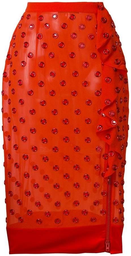 Givenchy eyelet embellished midi skirt