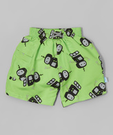 I Play Lime Robot Pocket Swim Diaper Trunks - Infant