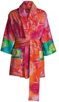 Versace Printed Short Bath Robe