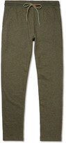 Paul Smith Slim-fit Tapered Mélange Cotton-blend Jersey Sweatpants - Green