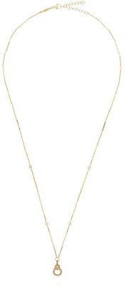 Jacquie Aiche 14kt Yellow Gold And Diamond Bar Chain Necklace