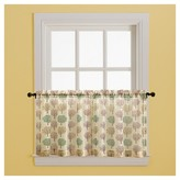 Nobrand No Brand Curtain Tiers Tan Green Red Tree