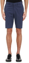 Theory MEN'S GINGHAM SEERSUCKER SHORTS-BLUE SIZE 30