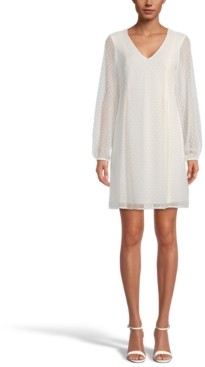 INC International Concepts Inc Bow-Back Clip-Dot Shift Dress, Created for Macy's